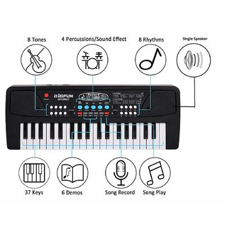 37 Key Piano Keyboard Toy with Mic Dc Power Tone Option Recording for Boys and Girls