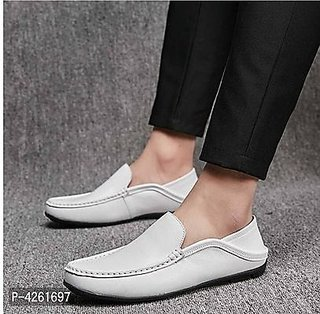 Comfortable  Stylish White Loafers For Men
