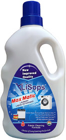 LiSops Max Matic Laundry Liquid Detergent (for front load  top load machines) 1 Litre