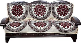 Manvi Creations 3 seater cotten sofa cover pack of 6 pcs