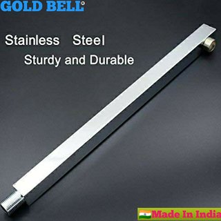 GOLD BELL 24 Inch Stainless Steel Shower Arm Square ALL Size Available with High Quality Chrome Poilsh (Pack 1)