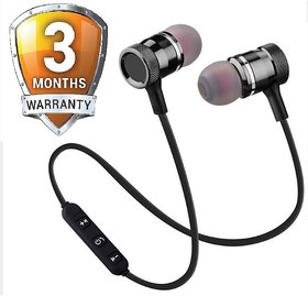Wireless Magnetic In the Ear Bluetooth Headset 3 Months Seller Warranty Color Black  Red