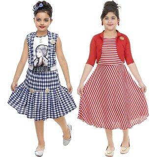Digimart Partywear Frock Dress For Girl