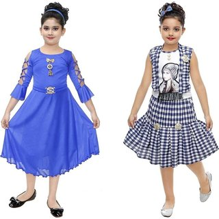 Digimart Partywear Frock Dress For Girl