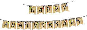 Hippity Hop Happy Anniversary Banner For Anniversary Decoration