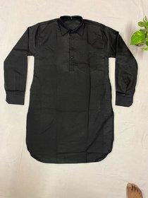 Baraji Men's pathani Kurta Pyjama Set Colour Black