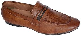 Onbeat Men's Tan Loafers And Moccasins