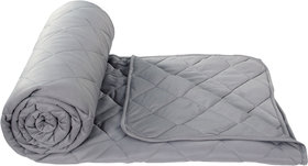 BSB Home Grey Reversible Light Weight Super Soft And Breathable Single Bed Cotton Solid Comforters/Quilt/Blanket