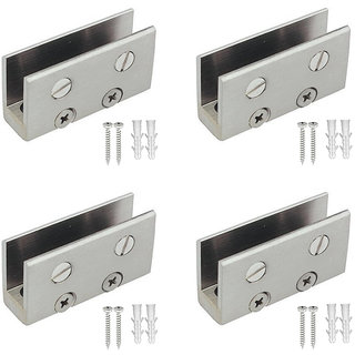 ONE10 STAINLESS STEEL FOLDING BRACKET 1 (L)x 1 (W) FOR 12 MM GLASS PACK OF 4 PCS