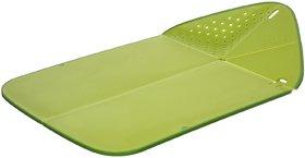 Joseph Joseph Rinse and Chop Plus Plastic Cutting Board, Green