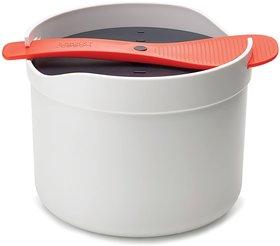 Joseph Joseph M-Cuisine Microwave Plastic Rice Cooker, Orange/Beige