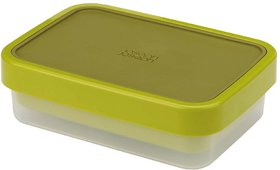 Joseph Joseph Go Eat Compact 2-in-1 Plastic Lunch Box, Green