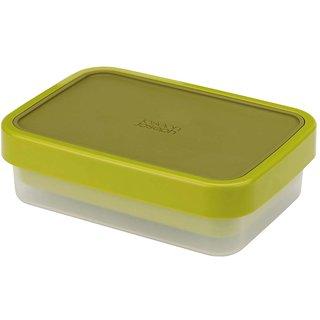 Joseph Joseph Go Eat Compact 2-in-1 Plastic Lunch Box, Green