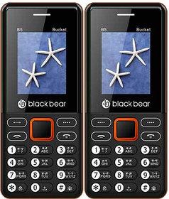 BLACKBEAR B5 Bucket Pack of 2 Black Red