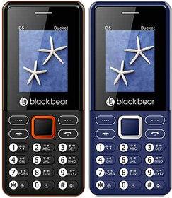 BLACKBEAR B5 Bucket Pack of 2 White Black