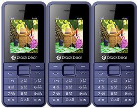 BLACKBEAR A1 Aura Pack of 3 White Blue