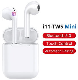 TWS i11 5.0 True Wireless Air-pods in-Ear Bluetooth Earphone with Portable Charging Case for Touch Sensor