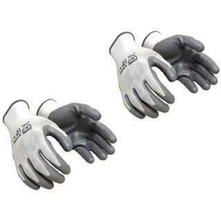 Gloves 2 Pair Grey Nitrile Gloves DIY Garden - Soil Works Gar Gloves 2 Pair Grey