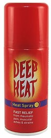 Deep Heat Spray, Fast Relief - 150ml Spray  (150 ml)
