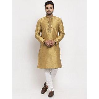 Mens silk embroidery kurta churidar