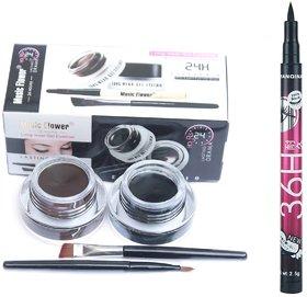 Music flower gel eyeliner and Yanquina sketch pen eyeliner combo