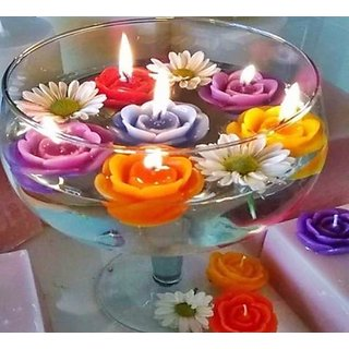Moonshine Floating Candles  Multicoloured  Pack of 12 Pcs.
