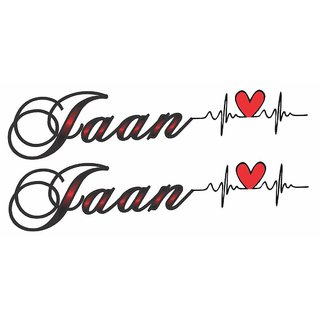 Voorkoms  Jaan with Heart Tattoo Waterproof Men and Women Temporary Body Tattoo V633