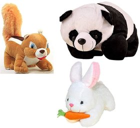 Touch Soft Toy Combo of 3 Stuffed Animal Soft Toys