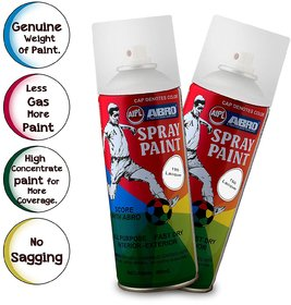 ABRO SP-190 Multipurpose Colour Spray Paint Can for Cars and Bikes (Lacquer, 400ml, 2 PCS)