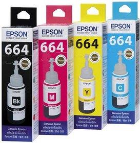 Original 75ml INK Bottles for EPSON set L100 L110 L200 L210 Printer Ink with Reset Codes