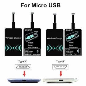 Micro USB QI Wireless Charging Adapter (Black)