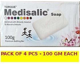 Medisalic Fairness Soap 100 gm each (pack of 4 pcs.)