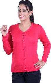 Ogarti woollen full sleeve V neck Rani Women's  Cardigan