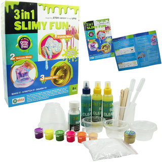 Ekta 3 in 1 Slimy Fun  make your own fantastic yucky slime  Learn How to Make Your Favourite Slime in House