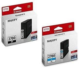 Canon PGI-2700XL High-Capacity Extra Large Ink Cartridge (BLACK  CYAN)