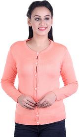 Ogarti woollen full sleeve round neck Bawa Women's  Cardigan