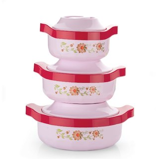 Flower Casserole Set of 3