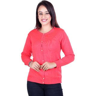 Ogarti woollen full sleeve round neck Gajri Women's  Cardigan