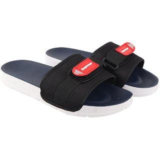 Birde Canvas Blue Slipper For Men