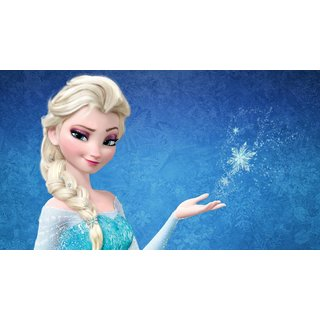 Blue Nexus Frozen Elsa A4 Paper Wall Poster Without Frame
