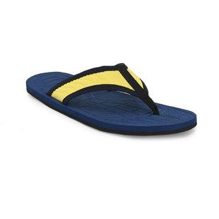 Comfort Fashion Slippers Indoor Outdoor Men's Yellow Flip Flops (KT-108)