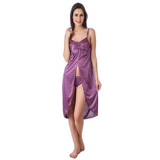 Angel Baby Doll Satin Nighty  with tong