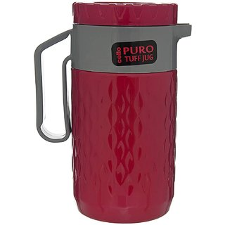 Cello Puro TUFF Insulated Double Wall Jug 1000 ml / 1 Ltr - Assorted Colors