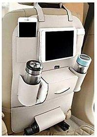 Multi Pocket Organizer for Front Seat Side Beige