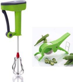 Dady Enterpriser's High Quality Power Free Hand Blender And Veg Cutter Combo (Blender  Veg Cutter)