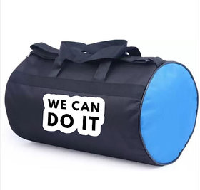 Proera Unisex WE CAN DO IT 10 Litres Blue& Black Duffel/Gym/ Travelling Bag