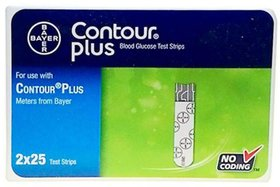 Contour Plus 50 Strips( pack of 2)