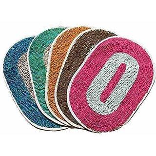 Jainco Set Of 5 Multicolour Door Mats (Assorted Colors)(12x18inch)