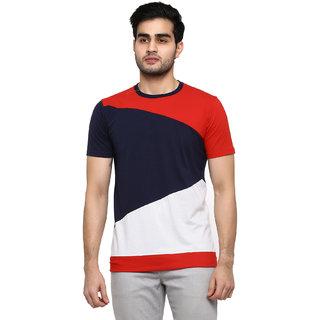 GENTINOColor Block Men Round Neck Multicolor T-Shirt