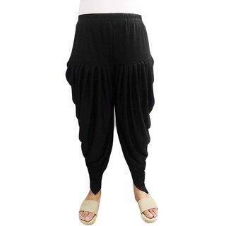 Dhoti Patiyala Salwar Harem Bottom Pants for Women/Girls(Black, Combo Pack)